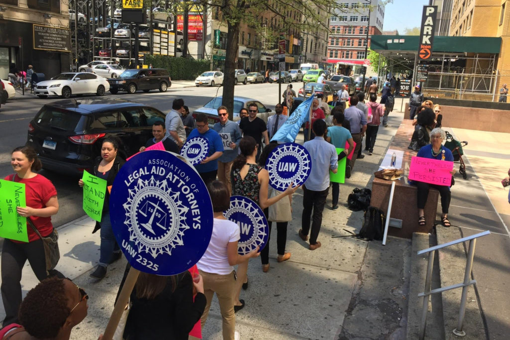Queens Defenders Fires Two Pro-Union Employees