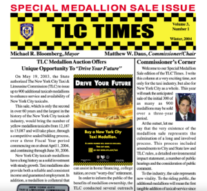 TLC newsletter from 2004 promoting taxi medallions